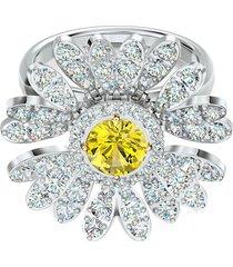 anel feminino eternal flower em metal - ródio