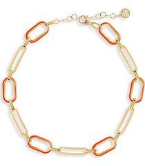 soft serve neon 14k gold vermeil & enamel chain anklet