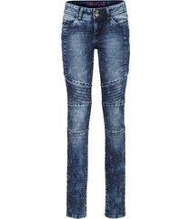 jeans skinny  in stile biker (blu) - rainbow