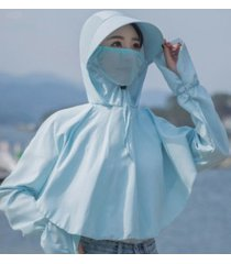 protección solar de verano para mujer sombrero para el sol azul