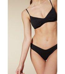 calzedonia elisa high-leg brazilian bikini bottoms woman black size m/l