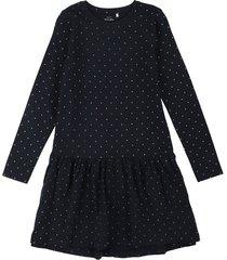 vestido azul oscuro-blanco name it