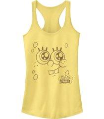 fifth sun spongebob squarepants bob esponja face racerback tank top