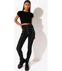 akira belle noir high waist skinny denim jeans