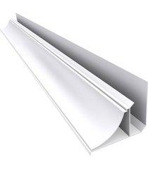 moldura cantoneira pvc branca para forro - barra de 6m - inove - inove