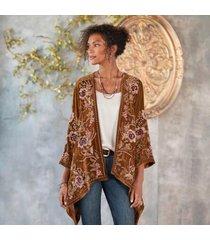 sundance catalog women's valencia kimono jacket in caramel small