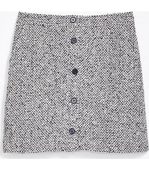 loft textured button pocket skirt
