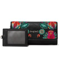 billetera negro-multicolor desigual