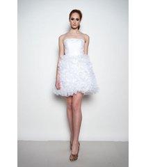daisy - krótka suknia ślubna z koronką