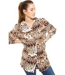 camisa animal print yurine edena