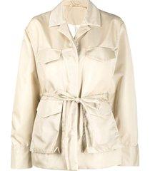 totême drop shoulder jacket - neutrals