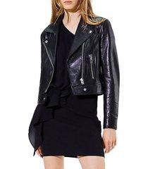 bape coated leather jacket