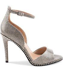 bcbgeneration women's jessika snakeskin leather dress sandals - size 7