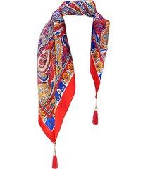 pañuelo lana calabazas rojo viva felicia