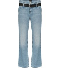 rta dexter belted straight leg jeans - blue