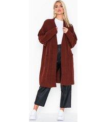 nly trend cozy cardigan knit stickade tröjor wine