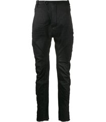 masnada ruched fitted trousers - black