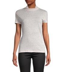 iro women's turtleneck linen top - near white - size 34 (2)