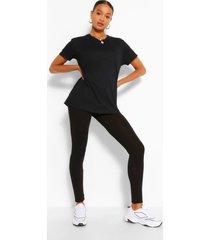 t-shirt and legging set, black