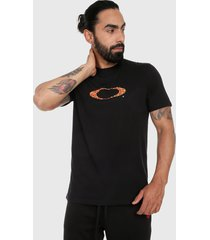 camiseta azul-multicolor oakley ellipse short sleeve tee