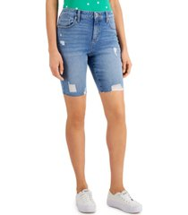 style & co destructed bermuda shorts, created for macy's