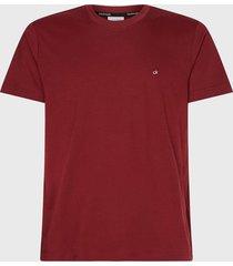 polera calvin klein cotton logo embroidery t-shirt burdeo - calce regular