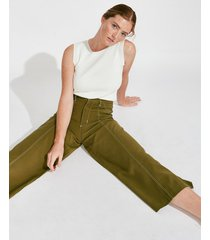 pantalón verde portsaid cropped saint jordi