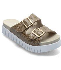 sandals shoes summer shoes flat sandals beige ilse jacobsen