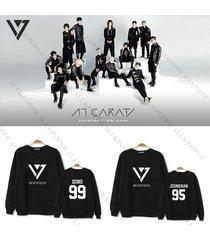 kpop seventeen carat sweater vernon hoodie unisex vernon pullover sweatershirt