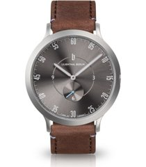 lilienthal berlin l1 gray leather watch 42mm