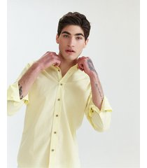 camisa amarilla equus fletcher slim fit
