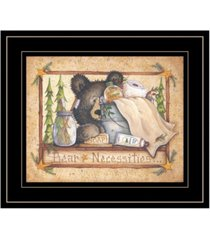 "trendy decor 4u bear necessities by mary ann june, ready to hang framed print, black frame, 13"" x 11"""