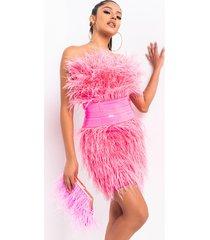 akira bite me feather mini dress