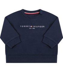tommy hilfiger blue sweatshirt for babyboy with logo