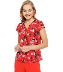 blusa ash rojo - calce regular