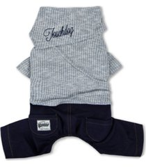 touchdog vogue neck-wrap sweater and denim pant outfit large