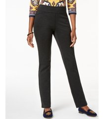charter club petite heathered-knit pants, created for macy's