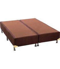 base cama box camurça marrom king 186x198x30  ortobom - tricae