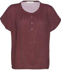 blouse ss blouses short-sleeved lila rosemunde