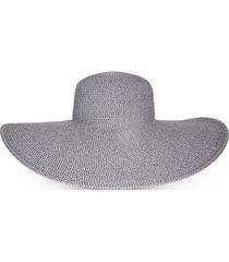 nine west grey braided packable super floppy hat