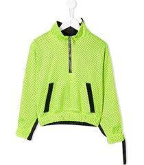 duoltd mesh track jacket - green