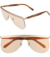 women's courreges the mask 99mm flat top shield sunglasses -