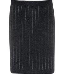 barrie striped cashmere mini skirt - grey