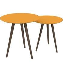 conjunto de mesa redondo pinoquio amarelo