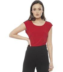 blusa calvin klein htset rojo - calce regular