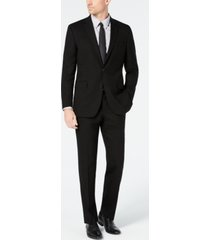 kenneth cole new york men's slim-fit travel ready performance extreme black solid suit