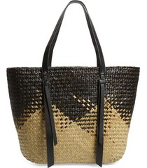 allsaints playa east/west woven straw beach tote -