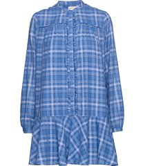 nalini korte jurk blauw custommade
