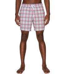 sperry men's drawstring printed swim shorts - white multi - size xl
