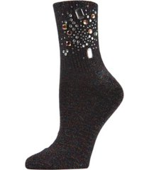 bejewelled women's crew socks